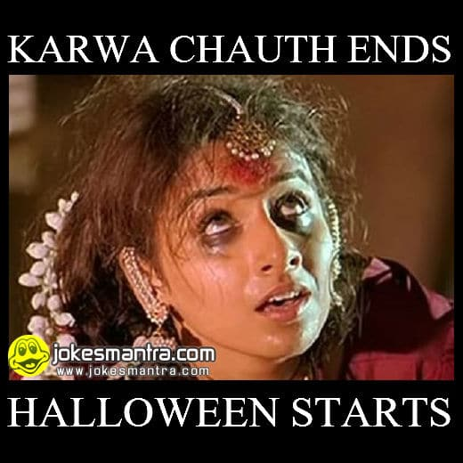 Karwa Chauth Ends Funny Meme